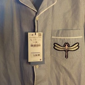 Zara Shirts - Zara Man Dragonfly Striped Shirt